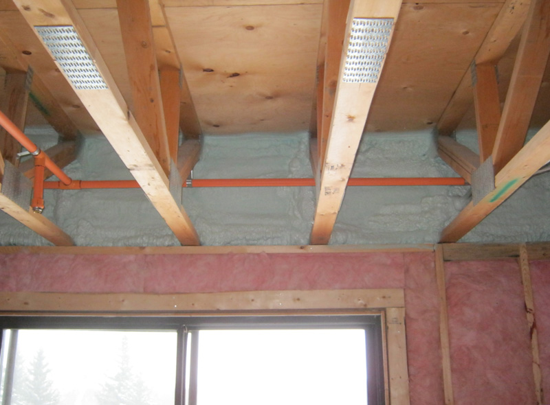 be used on the outside of a basement wall and under the basement slab